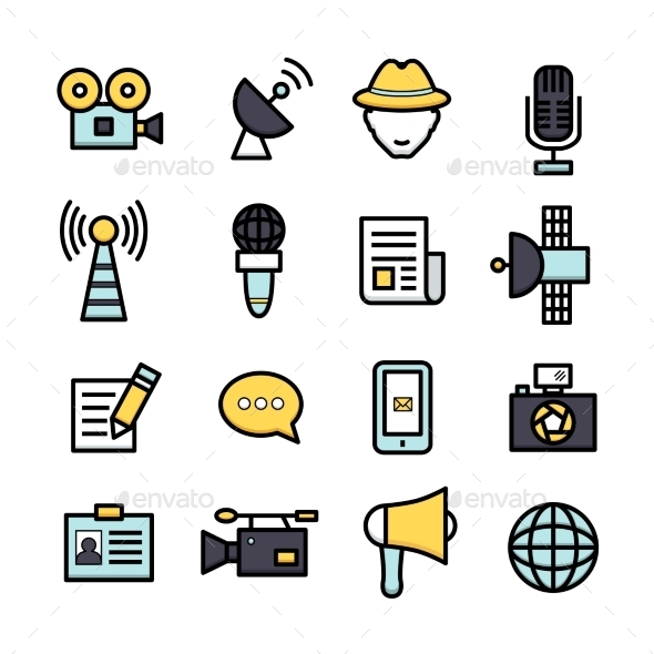 News Reporter Icons - Icons