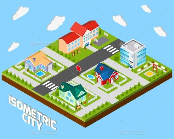 Isometric City Project - Buildings Objects