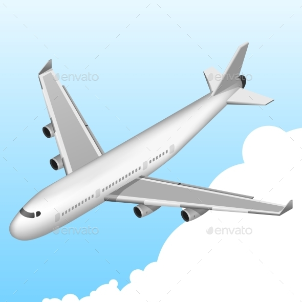 Airplane Isometric Icon - Travel Conceptual