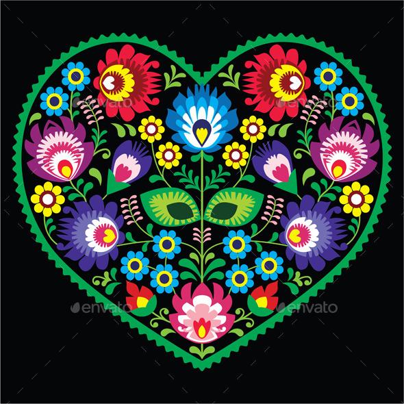 Folk Art - Valentines Seasons/Holidays