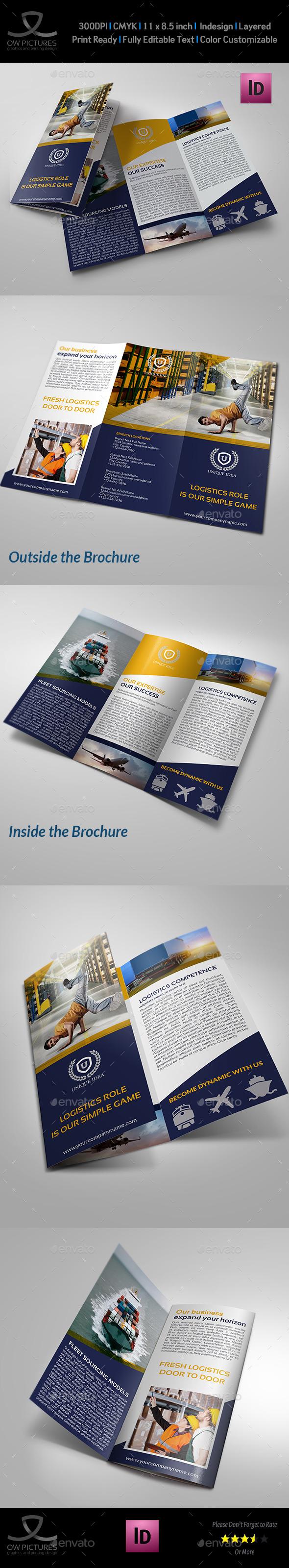 Logistic Services Tri-Fold Brochure Template Vol2 - Corporate Brochures