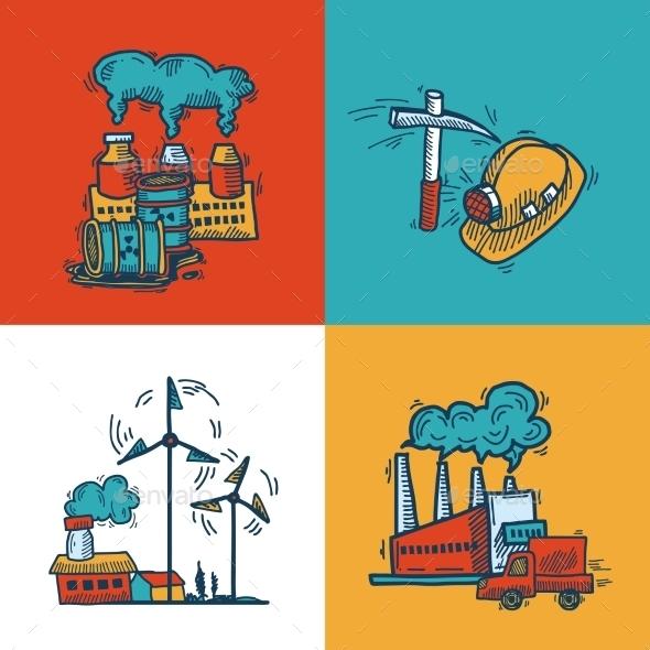 Industrial Sketch Banner Design - Web Technology