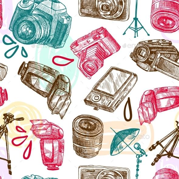 Photo Seamless Pattern - Backgrounds Decorative