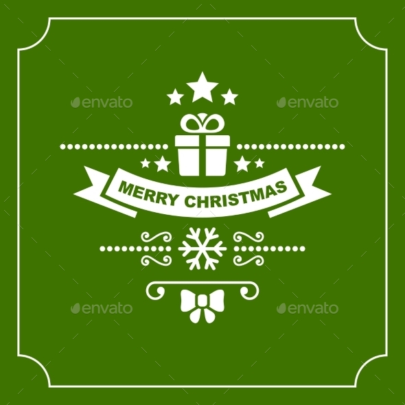 Christmas Retro Typographic Background - Backgrounds Decorative