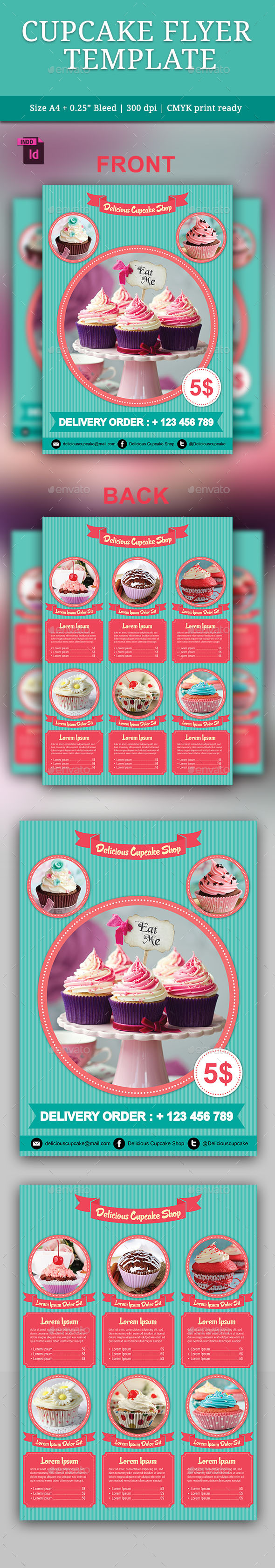 Cupcake Flyer Template - Restaurant Flyers