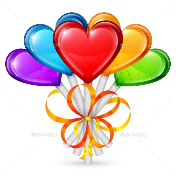 Heart Lollipops - Valentines Seasons/Holidays