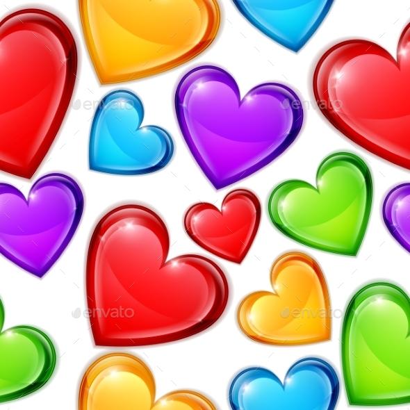Heart Candies Pattern - Valentines Seasons/Holidays