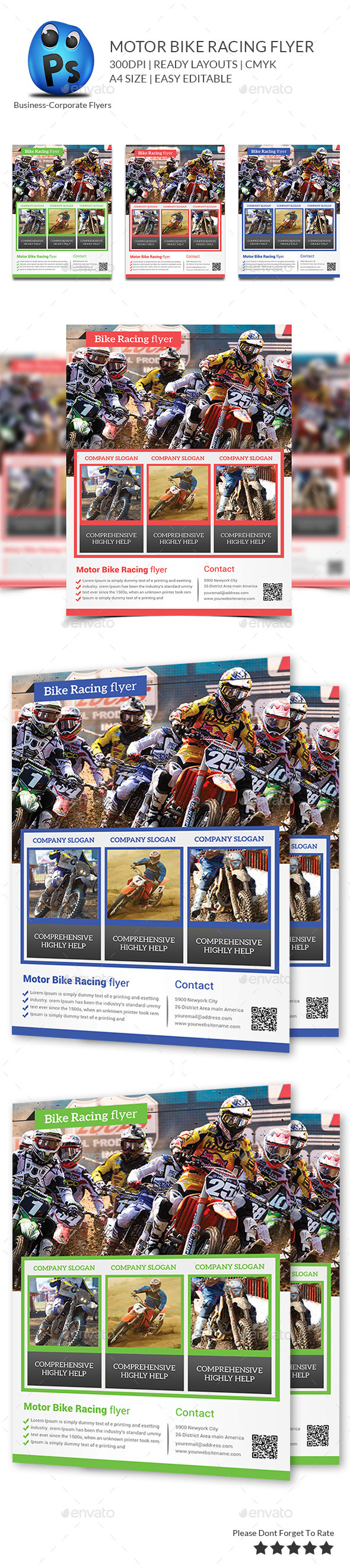 Bike Racing flyer Print Templates - Corporate Flyers