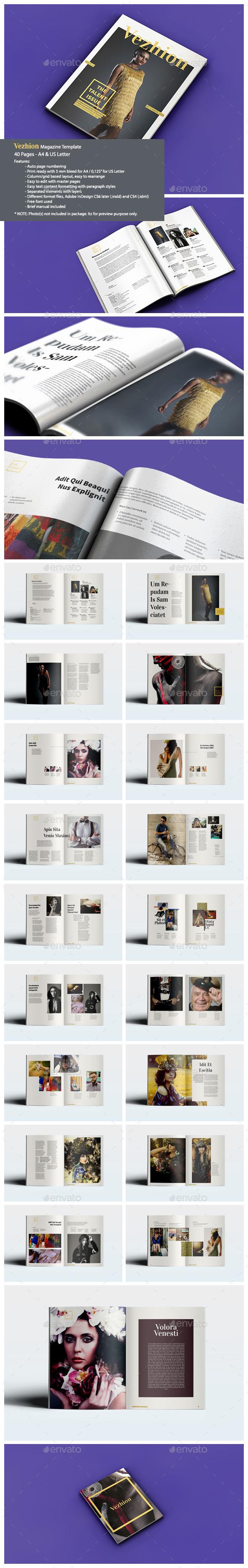 Vezhion Magazine - Magazines Print Templates