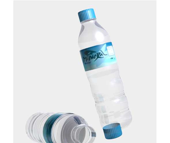 mineral water bottle - 3DOcean Item for Sale
