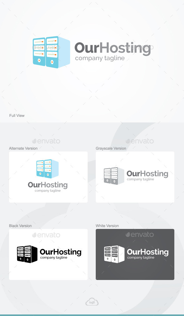 Our Hosting Logo Template - Objects Logo Templates