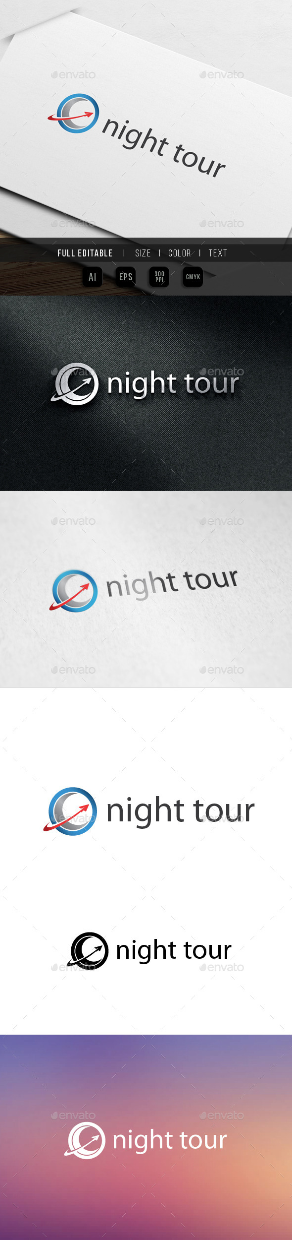 Night Tour Travel - Nature Logo Templates