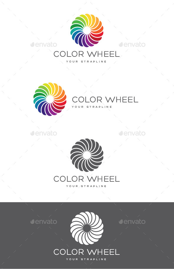 Color Wheel Logo - Vector Abstract