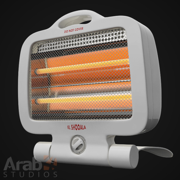 Portable Infra Red Heater - 3DOcean Item for Sale