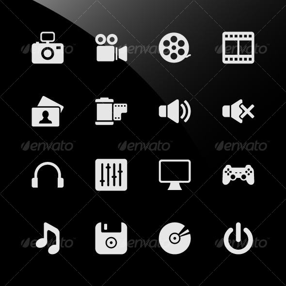 Multimedia Web Icons - Web Elements