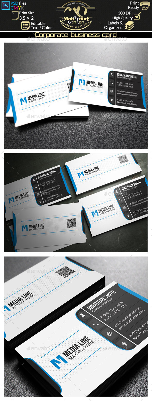 Corporate Business Card 65 - Corporate Business Cards