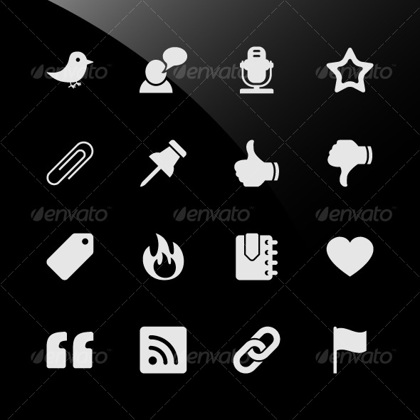 Social Media Web Icons - Web Elements