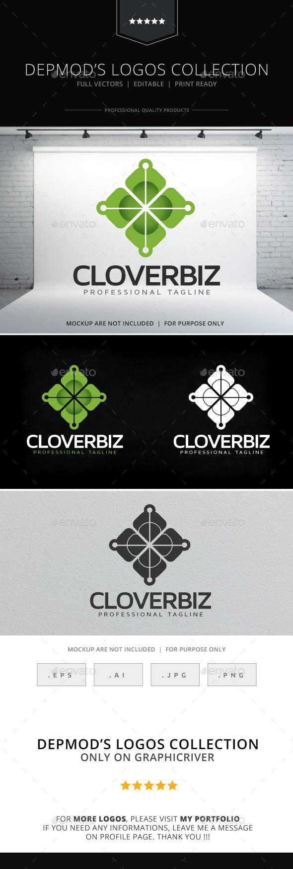 Clover Biz Logo - Abstract Logo Templates