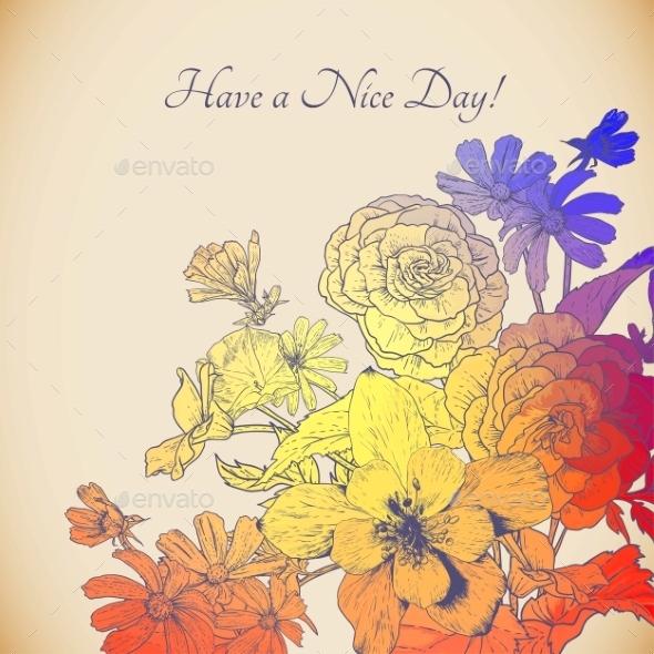 Floral Bouquet - Patterns Decorative