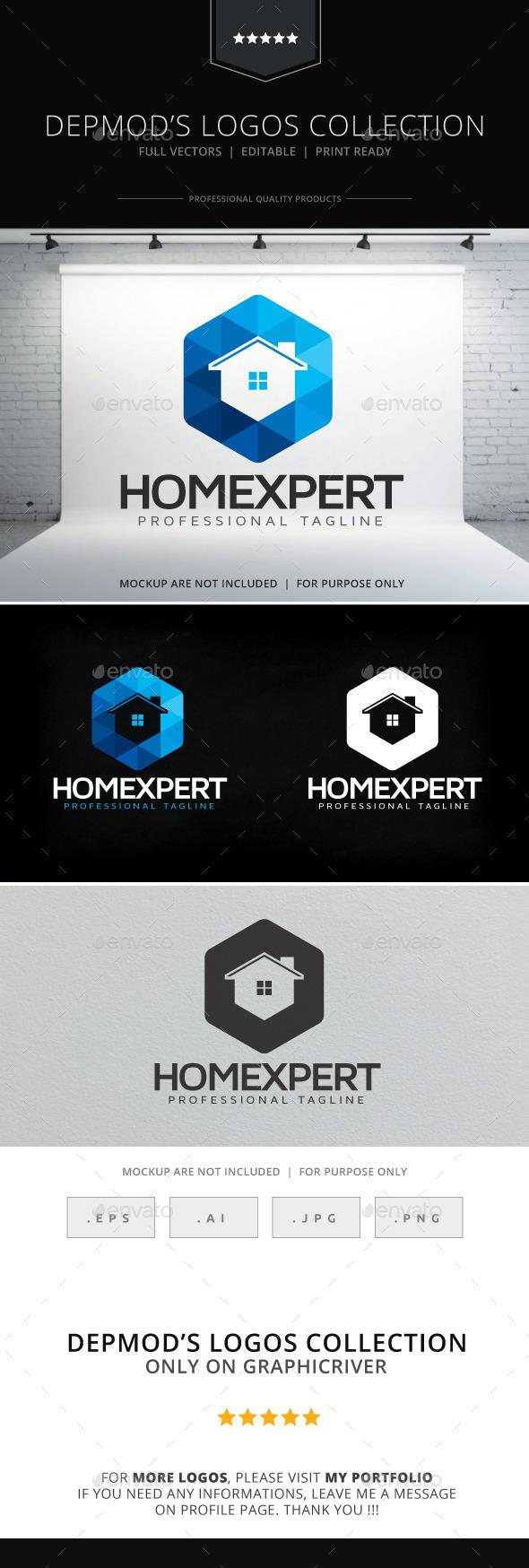 Home Expert Logo - Buildings Logo Templates