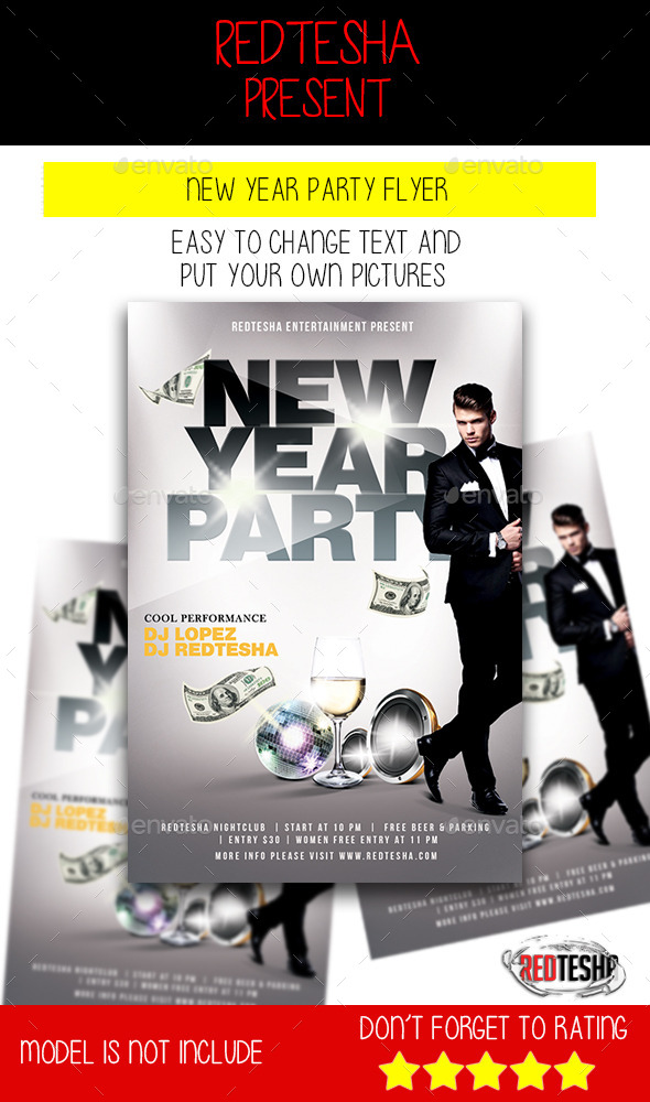 New Year Party Flyer - Holidays Events
