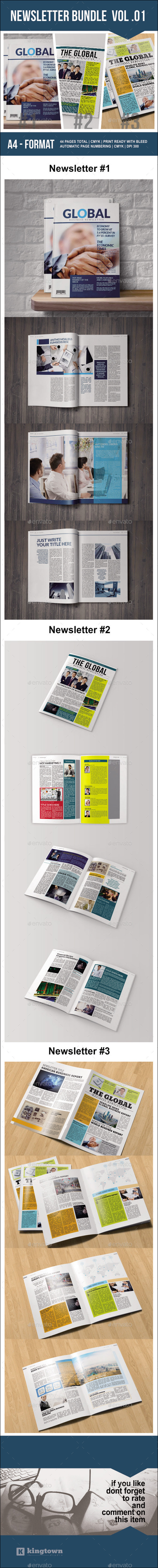 Newsletter Bundle Vol. 01 - Newsletters Print Templates