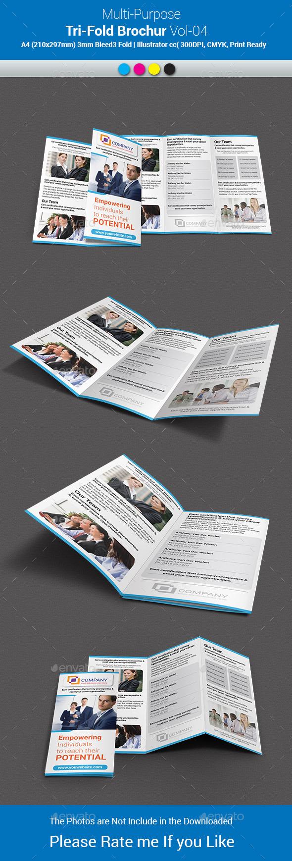Multipurpose Business Tri-Fold Brochure Vol-04 - Corporate Brochures