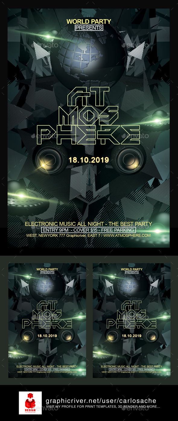 Atmosphere / Flyer Template - Clubs & Parties Events