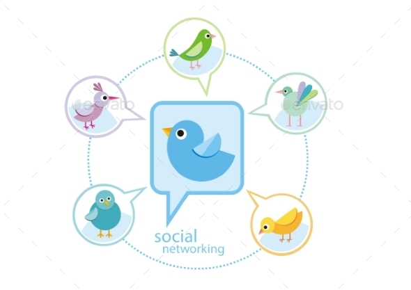 Birds Social Network - Animals Characters