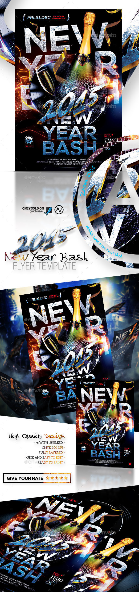 2015 New Year Bash Flyer Template - Clubs & Parties Events