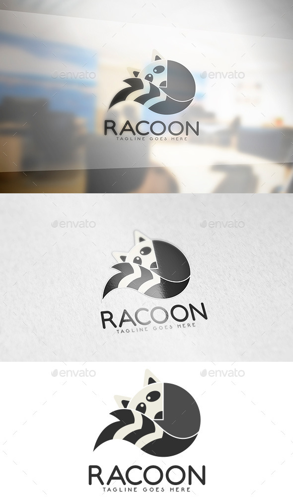 Racoon Animal Logo - Animals Logo Templates