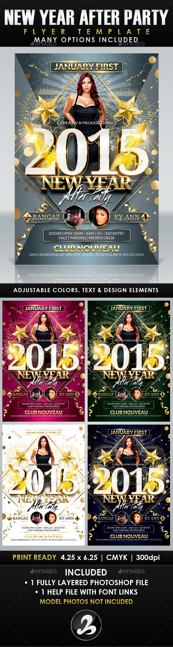 New Year After Party Flyer Template - Clubs & Parties Events