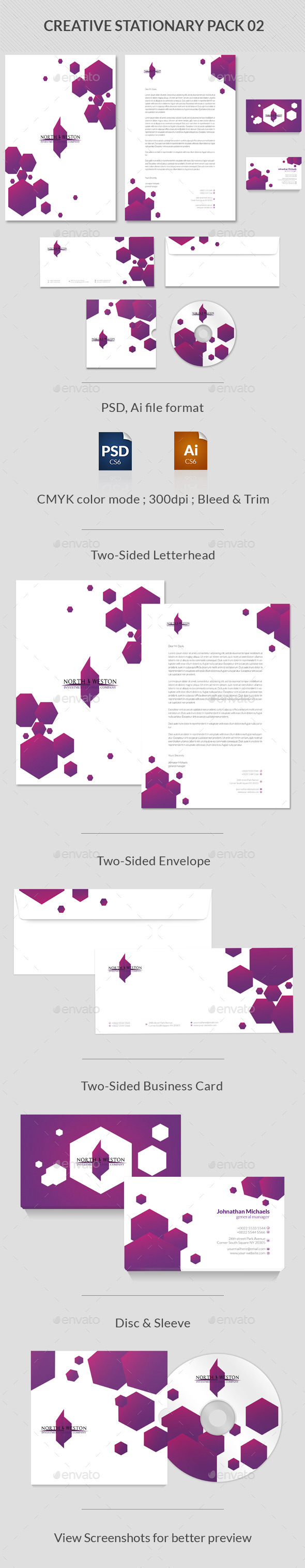 Creative Stationary Pack - Stationery Print Templates
