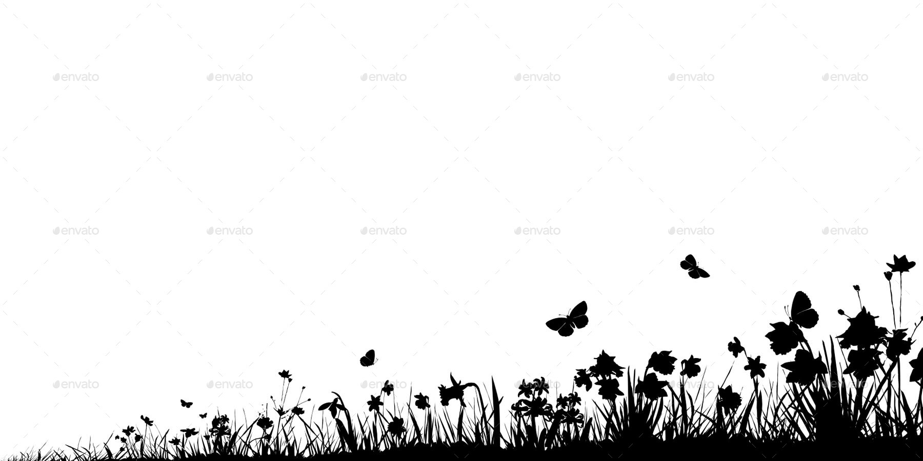 spring silhouettes backgrounds by fordollardeur