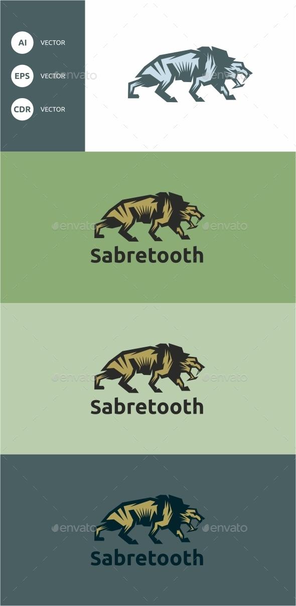 Sabretooth - Animals Logo Templates
