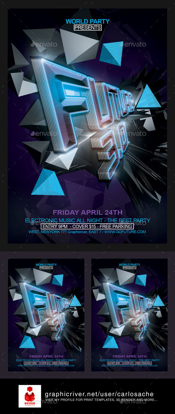 Future 3.0 / Flyer Template - Flyers Print Templates