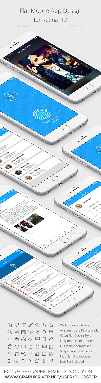 App Design for Smartphones - User Interfaces Web Elements