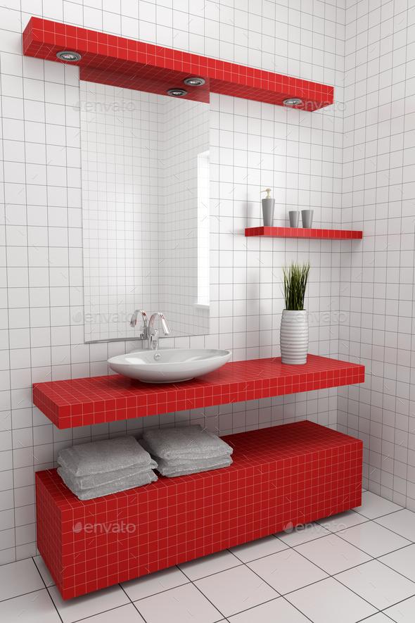 modern bathroom - Stock Photo - Images