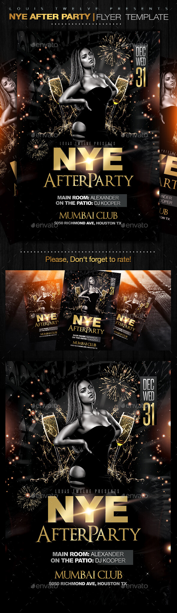 NYE After Party Flyer Template - Clubs & Parties Events