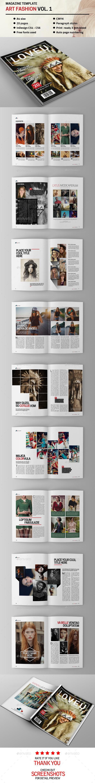 Art Fahion Magazine Vol. 1 - Magazines Print Templates