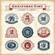 Vintage Christmas Stamps Set - GraphicRiver Item for Sale