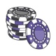Stack of Gambling Chips - GraphicRiver Item for Sale