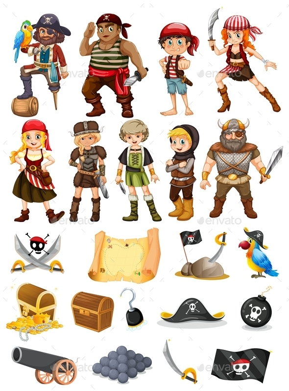 Pirates and Vikings - People Characters