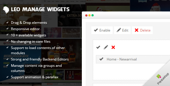 Leo Manage Widgets - CodeCanyon Item for Sale