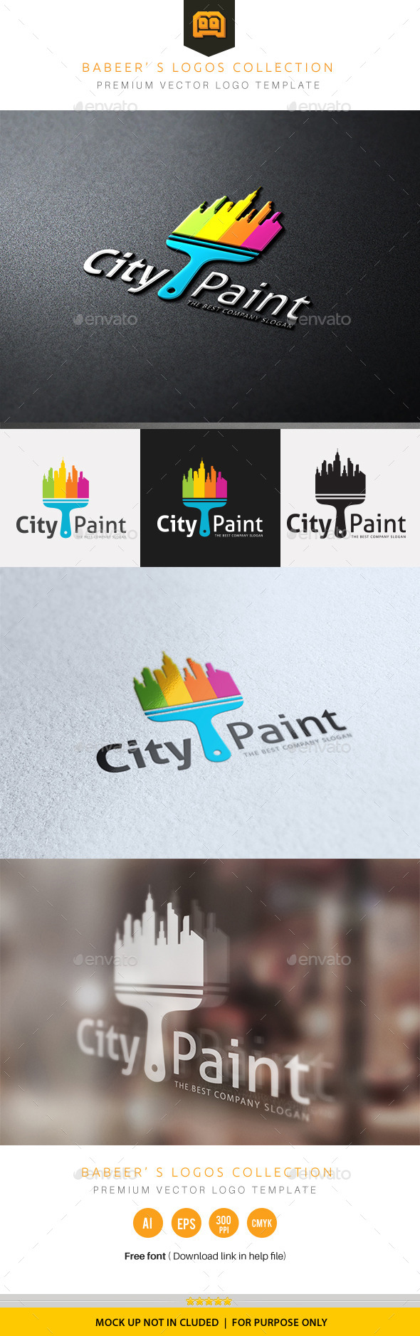 City Paint - Buildings Logo Templates