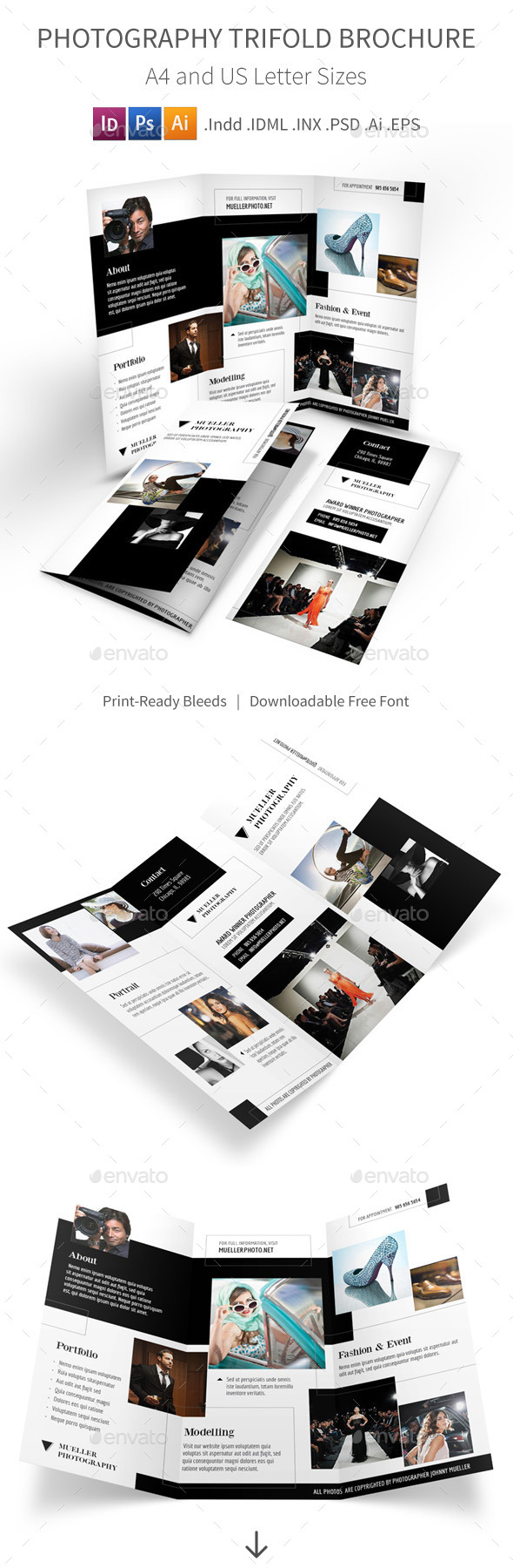 Photography Studio Trifold Brochure - Informational Brochures