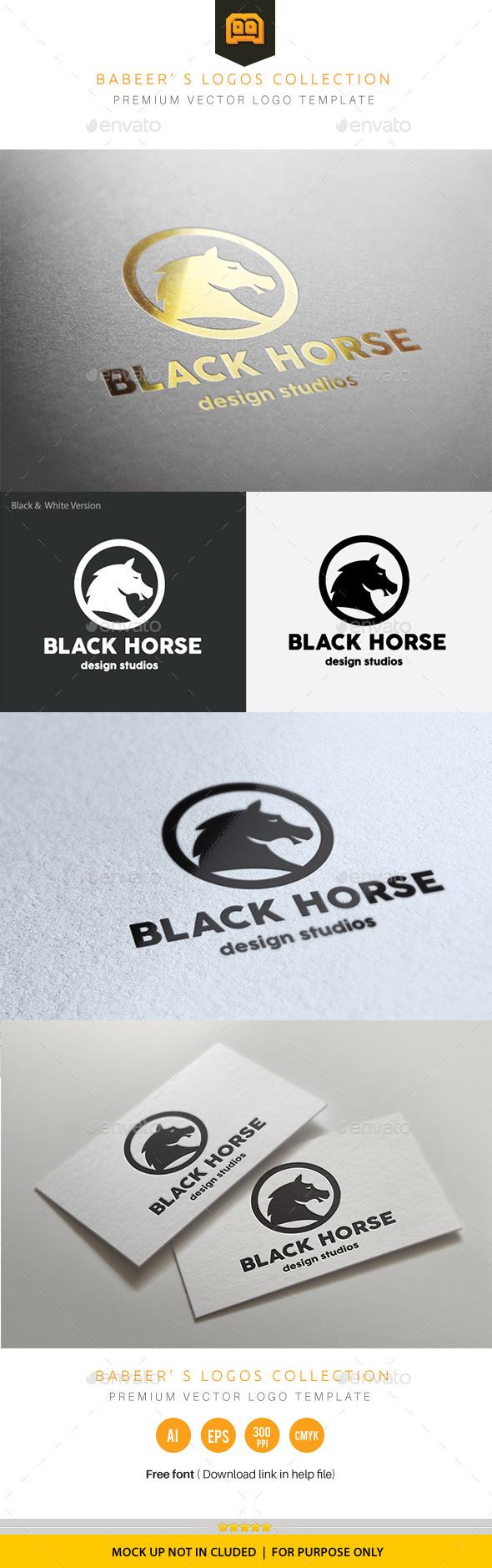 Black Horse - Crests Logo Templates