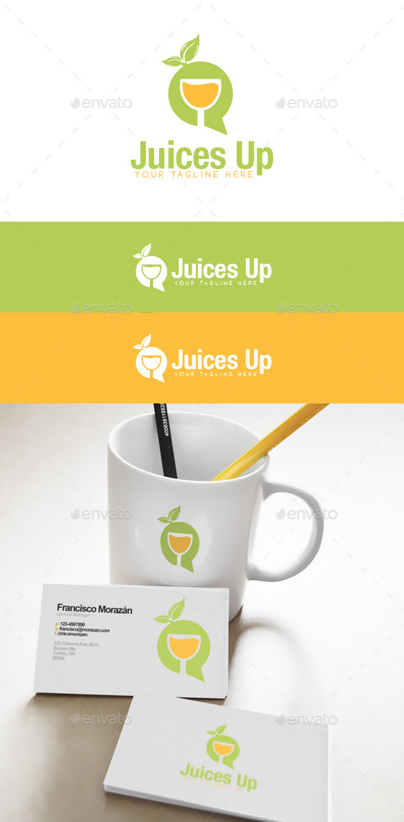 Juices Up Logo - Food Logo Templates