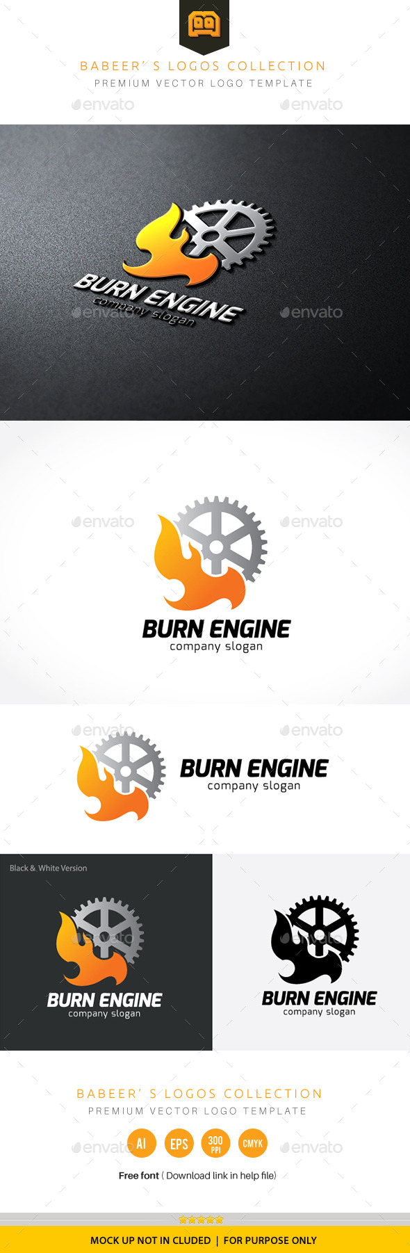 Burn Engine - Objects Logo Templates