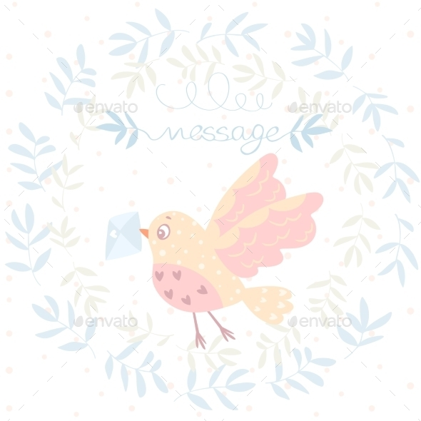 Bird and a Letter - Animals Characters